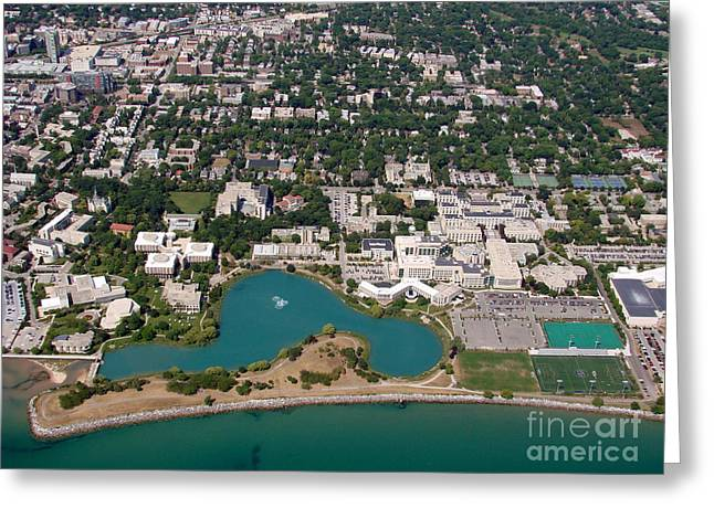 Bill Lang Greeting Cards - N-011 Northwestern University Chicago Illinois Greeting Card by Bill Lang