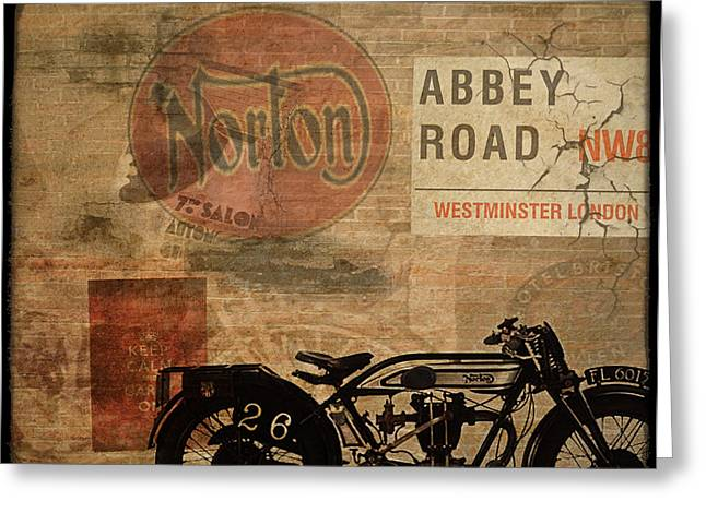 Motorcycles Digital Art Greeting Cards - Norton Greeting Card by Cinema Photography