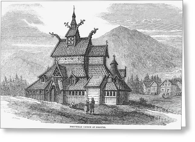 12th Greeting Cards - Norway: Borgund Church Greeting Card by Granger