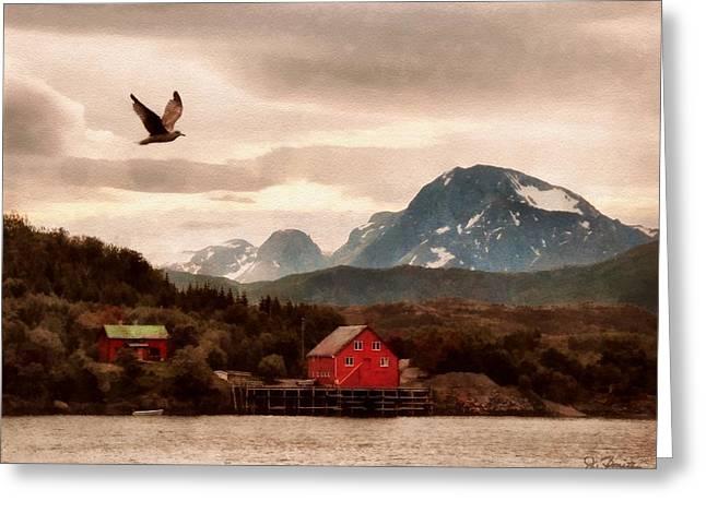 Norwegian Coast Greeting Cards - Norwegian Coast No. 5 Greeting Card by Joe Bonita