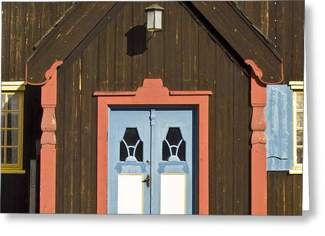 Norwegian wooden facade Greeting Card by Heiko Koehrer-Wagner