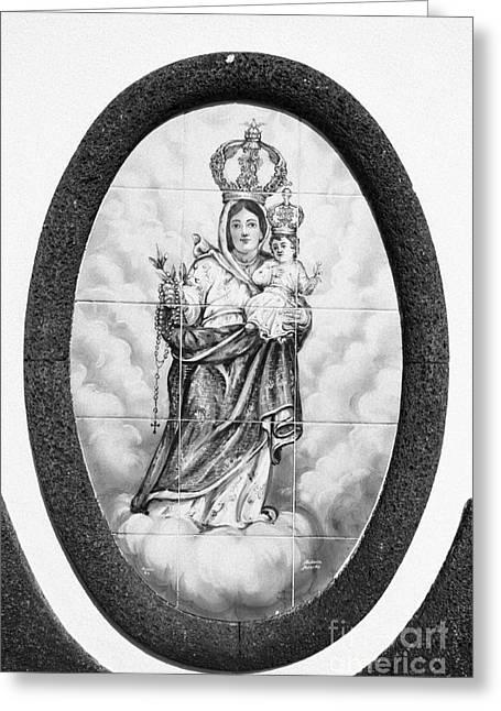Religious Art Photographs Greeting Cards - Nossa Senhora da Paz Greeting Card by Gaspar Avila