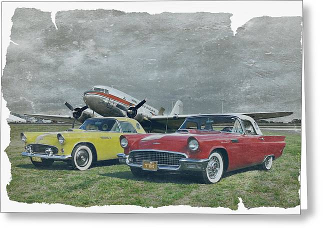 Dc-3 Plane Greeting Cards - Nostalgia Airlines Greeting Card by Steven Agius