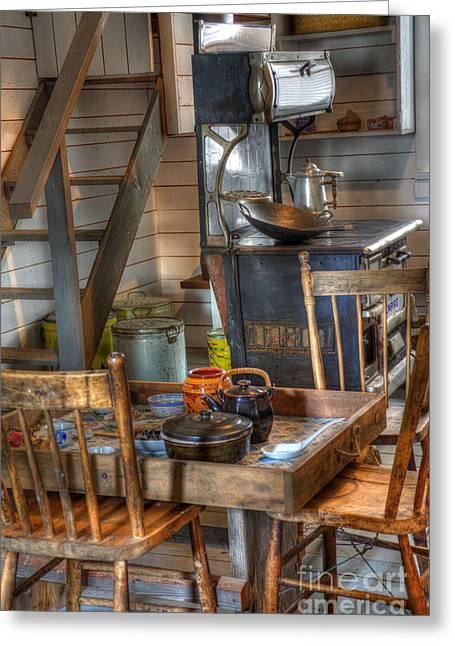 Historical Pictures Greeting Cards - Nostalgia Country Kitchen Greeting Card by Bob Christopher