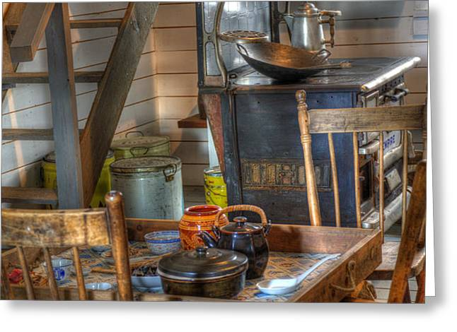 Nostalgia Country Kitchen Greeting Card by Bob Christopher