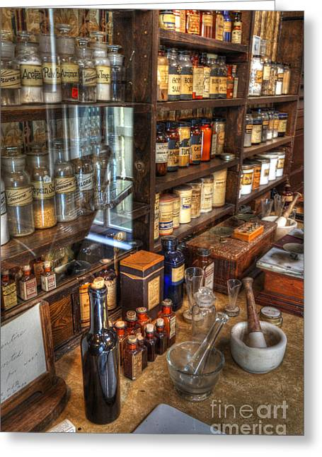 Historical Pictures Greeting Cards - Nostalgia  Pharmacy Greeting Card by Bob Christopher