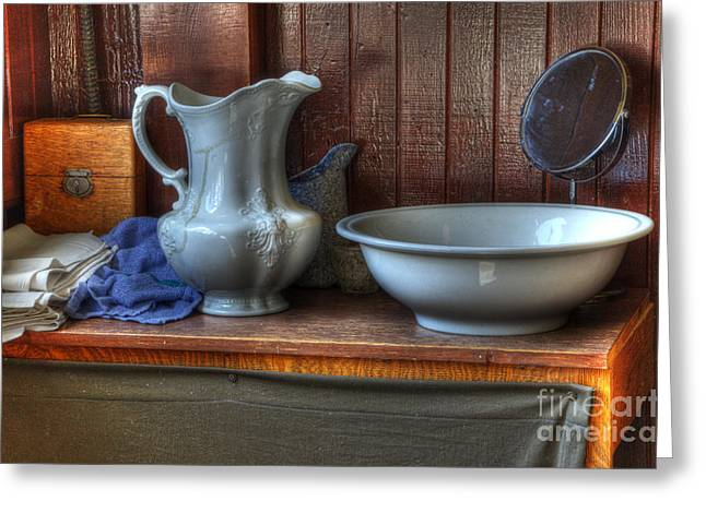 Historical Pictures Greeting Cards - Nostalgia Wash Stand Greeting Card by Bob Christopher