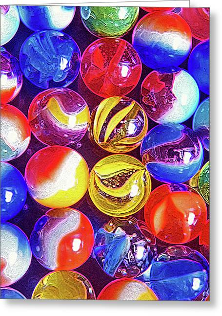Best Sellers -  - Marble Eye Greeting Cards - Nostalgic Marbles 2 Greeting Card by Steve Ohlsen