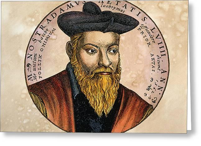 Nostradamus Greeting Cards - Nostradamus Greeting Card by Detlev Van Ravenswaay
