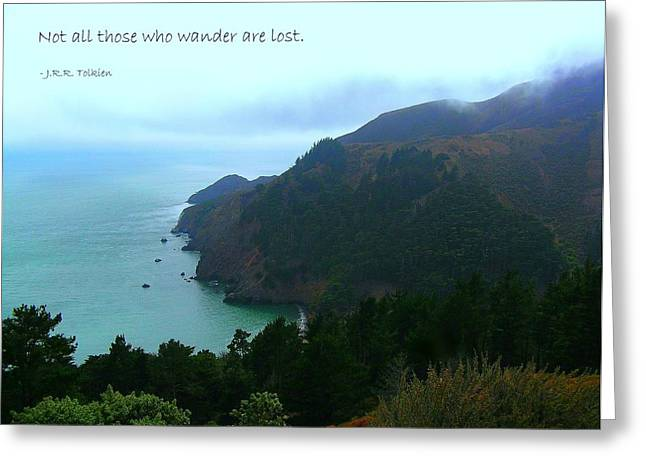 Motivational Poster Greeting Cards - Not All Who Wander Are Lost Greeting Card by Jen White