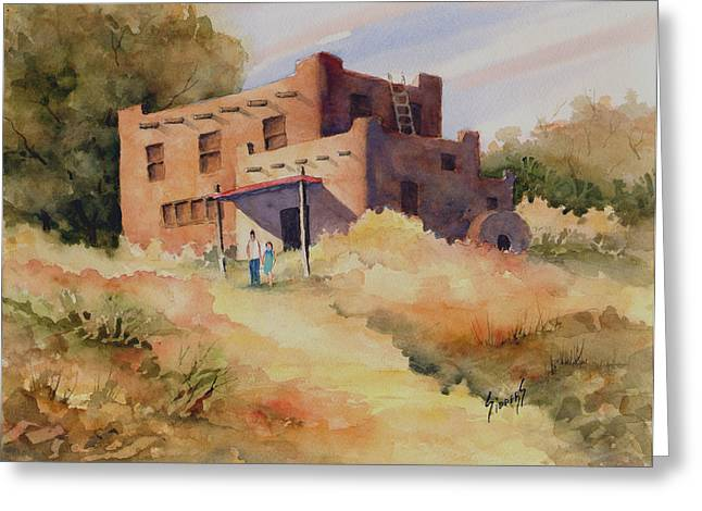 Not Far From Espanola Greeting Card by Sam Sidders