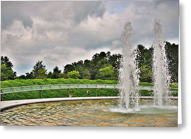 September 11 Wtc Greeting Cards - Not Forgotten - Garden Of Reflection Greeting Card by Angie Tirado