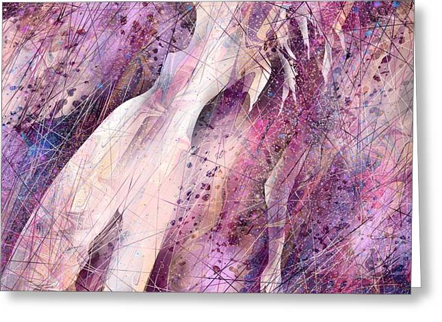 Female Fairy Abstract Greeting Cards - Not Forgotten Greeting Card by Rachel Christine Nowicki