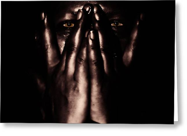 not my dark soul.. Greeting Card by Stylianos Kleanthous