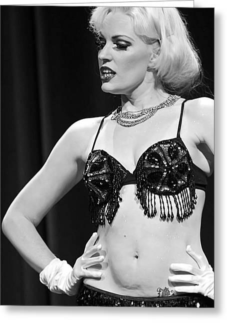 Nude Marilyn Monroe Greeting Cards - Not So Coy Greeting Card by Elizabeth Hart