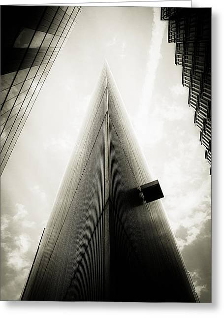 Runnycustard Greeting Cards - Not the Shard Greeting Card by Lenny Carter