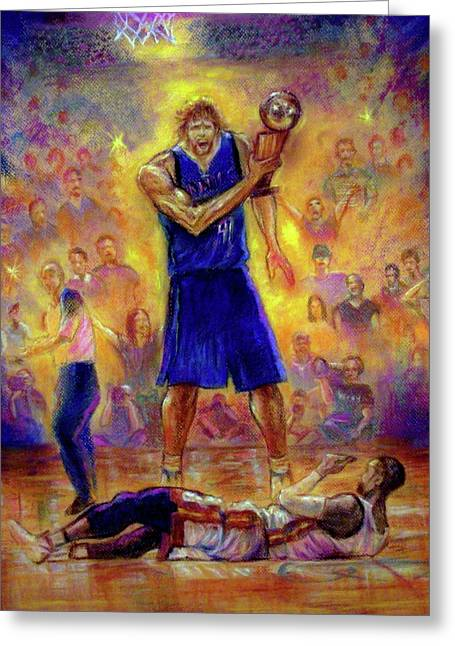 Nba Pastels Greeting Cards - Not This Time Greeting Card by Tommy  Winn