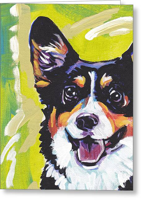 Tri Colored Greeting Cards - Nothin Like a Corgi Greeting Card by Lea
