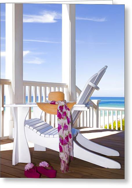 Emerald Coast Greeting Cards - Nothing But Time Greeting Card by Janet Fikar