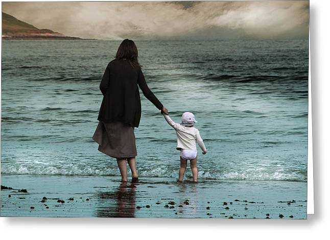 Nothing is Too Big with a Hand to Hold Greeting Card by Julie L Hoddinott
