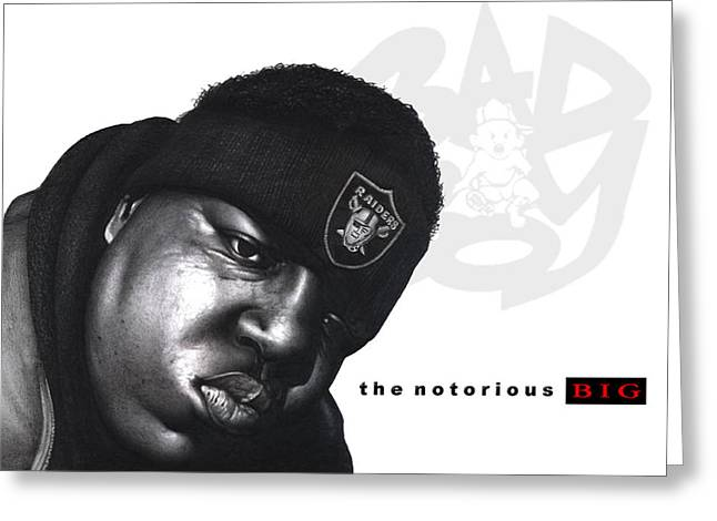 Hop Drawings Greeting Cards - Notorious B.I.G Greeting Card by Lee Appleby