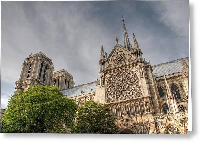 Notre Dame de Paris Greeting Card by Jennifer Lyon
