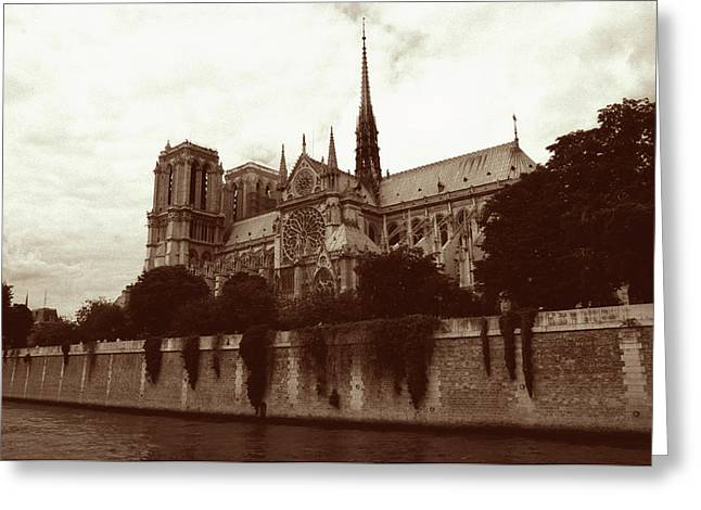 Architecture Framed Prints Greeting Cards - Notre Dame Greeting Card by Kathy Yates