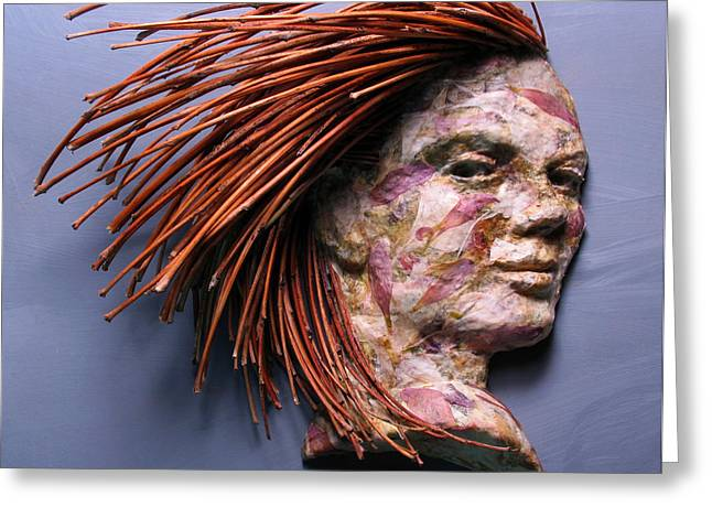 Life-size Greeting Cards - Noumenon a relief sculpture by Adam Long Greeting Card by Adam Long