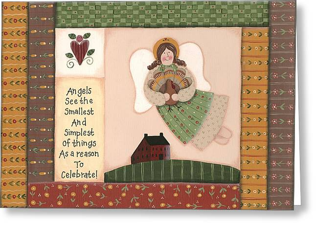 November Angel Greeting Card by Debbie McMaster