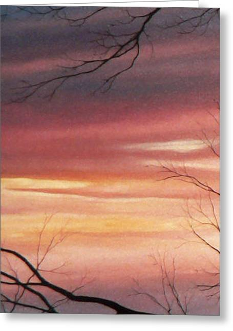 Sunset Prints Greeting Cards - November Lace 1 Greeting Card by Hanne Lore Koehler