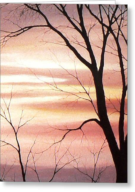 Sunset Prints Greeting Cards - November Lace 3 Greeting Card by Hanne Lore Koehler