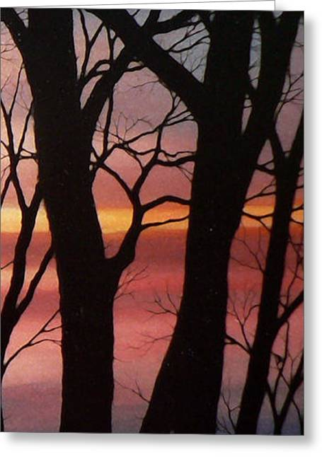 Sunset Prints Greeting Cards - November Lace 4 Greeting Card by Hanne Lore Koehler