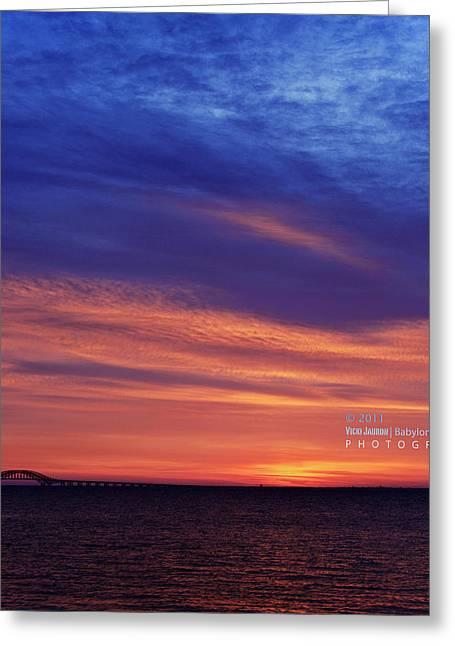 Babylon Greeting Cards - November Sunrise Greeting Card by Vicki Jauron