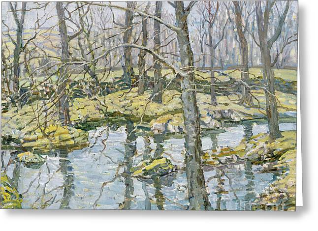 Beck Greeting Cards - November  Greeting Card by Walter Elmer Schofield