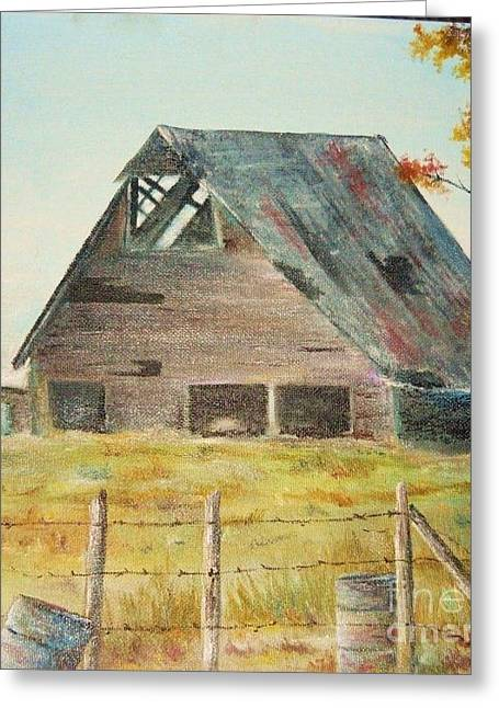Tennessee Barn Greeting Cards - Now I Stand Greeting Card by Vickie Shelton
