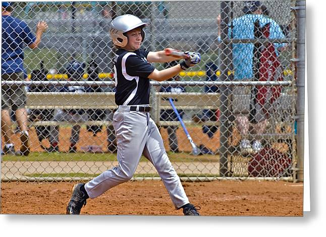 Baseball Uniform Greeting Cards - Now Run Greeting Card by Susan Leggett