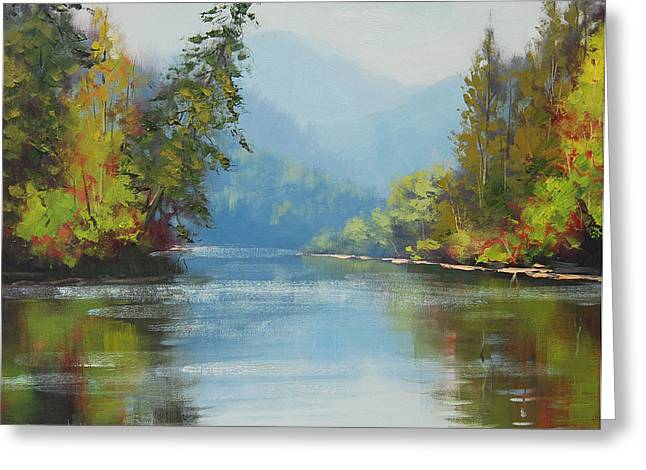 River Paintings Greeting Cards - Nrkite River Canada Greeting Card by Graham Gercken
