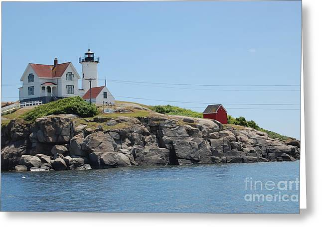 Cape Neddick Lighthouse Greeting Cards - Nubble Lighthouse Cape Neddick Greeting Card by John Small