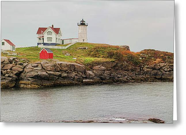 Cape Neddick Lighthouse Greeting Cards - Nubble Lighthouse Greeting Card by Jack Schultz