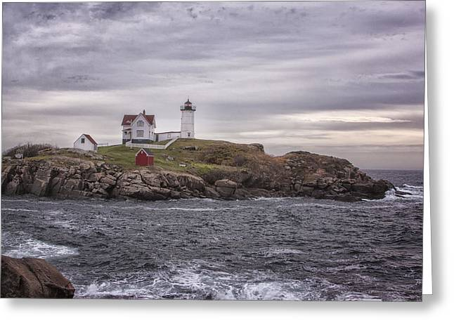 Cape Neddick Greeting Cards - Nubble Lighthouse Greeting Card by Tom Singleton