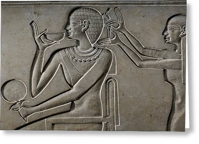 Egyptian Sarcophagus Greeting Cards - Nubian Queen Kawit, Shown Greeting Card by Kenneth Garrett