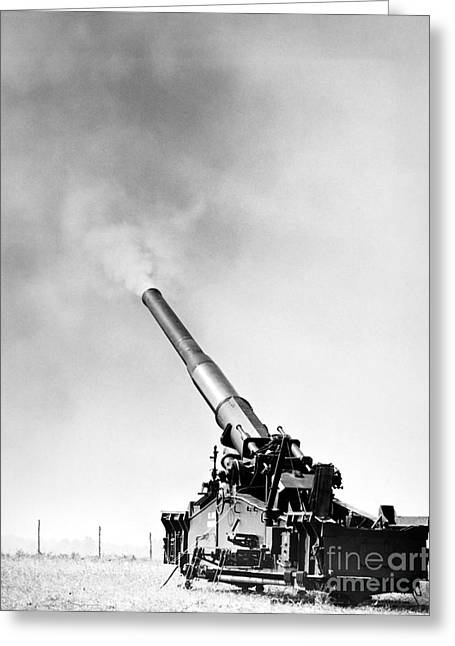 U.s Army Greeting Cards - NUCLEAR ARTILLERY, 1950s Greeting Card by Granger