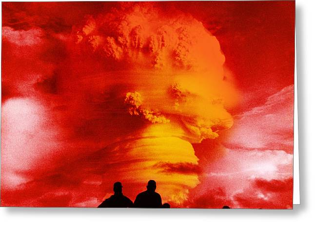 Nuclear Warfare Greeting Cards - Nuclear Detonation Greeting Card by Omikron