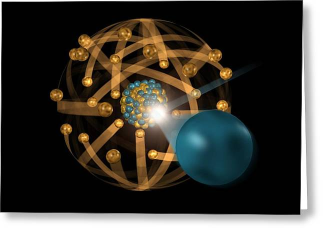 Fission Greeting Cards - Nuclear Fission, Artwork Greeting Card by Crown Copyrighthealth & Safety Laboratory