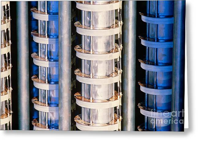 Power Plants Greeting Cards - Nuclear Reactor Greeting Card by Science Source