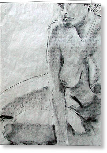 Nude 4794 Greeting Card by Elizabeth Parashis