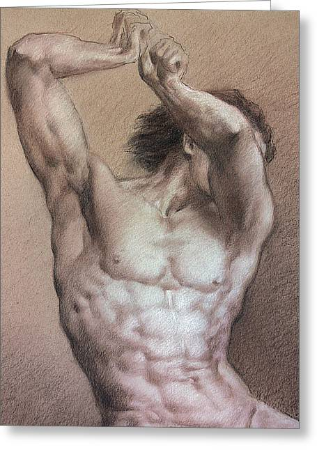Valeriy Mavlo Drawings Greeting Cards - Nude 9 a Greeting Card by Valeriy Mavlo