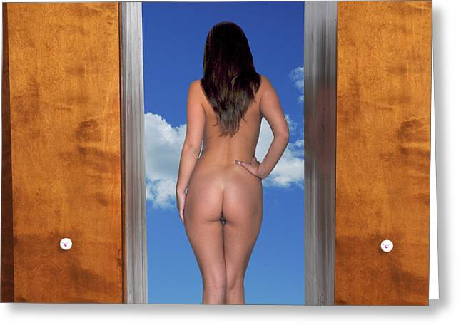Nude Photograph Greeting Cards - Nude Doorway Greeting Card by Harry Spitz