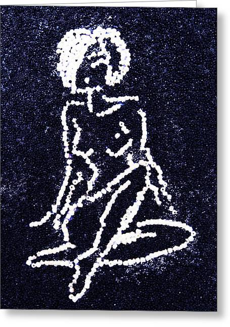 People Glass Greeting Cards - Nude Female Greeting Card by Natalya A