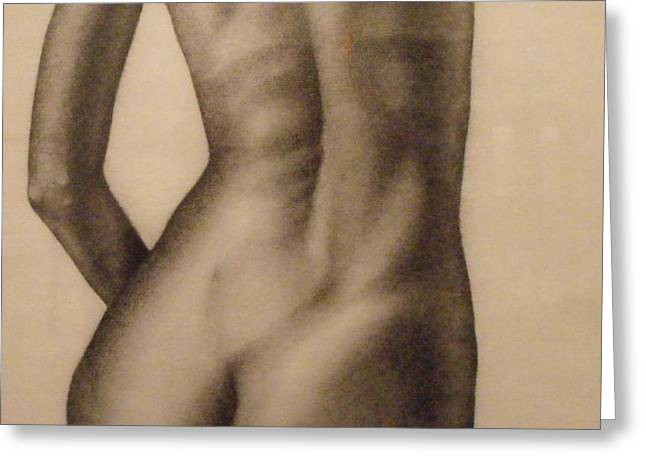 Nude Female Study of Back Greeting Card by Neal Luea